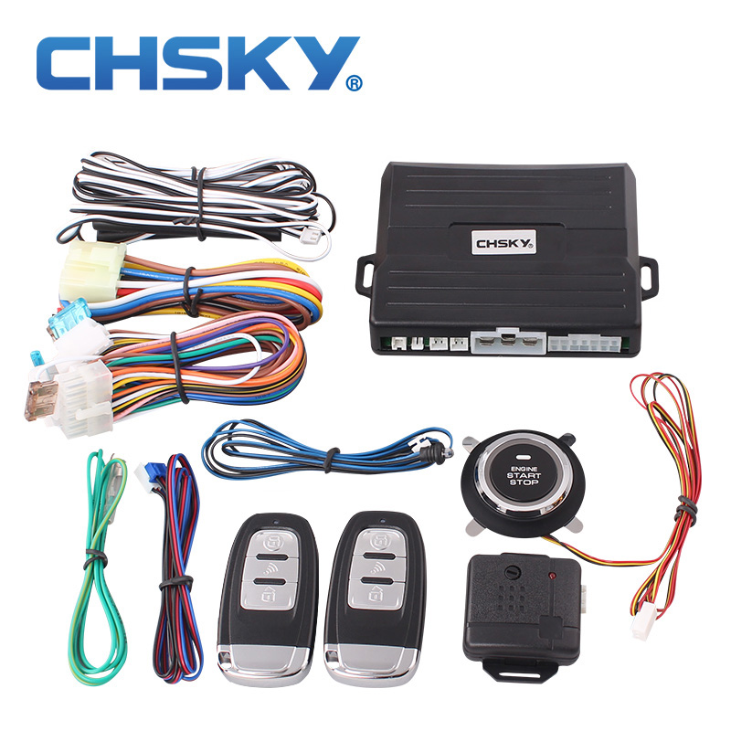 CHSKY Car-Alarm-System Start-Stop-Button Car-Start-Entry Universal Push Engine Keyless
