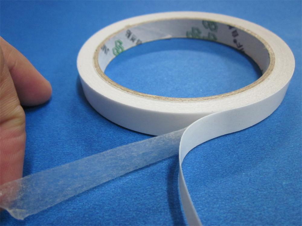 Manual Oil Glue Viscous Resistance To High Temperature Double-sided Adhesive White Transparent Tape 3 Mm X12m