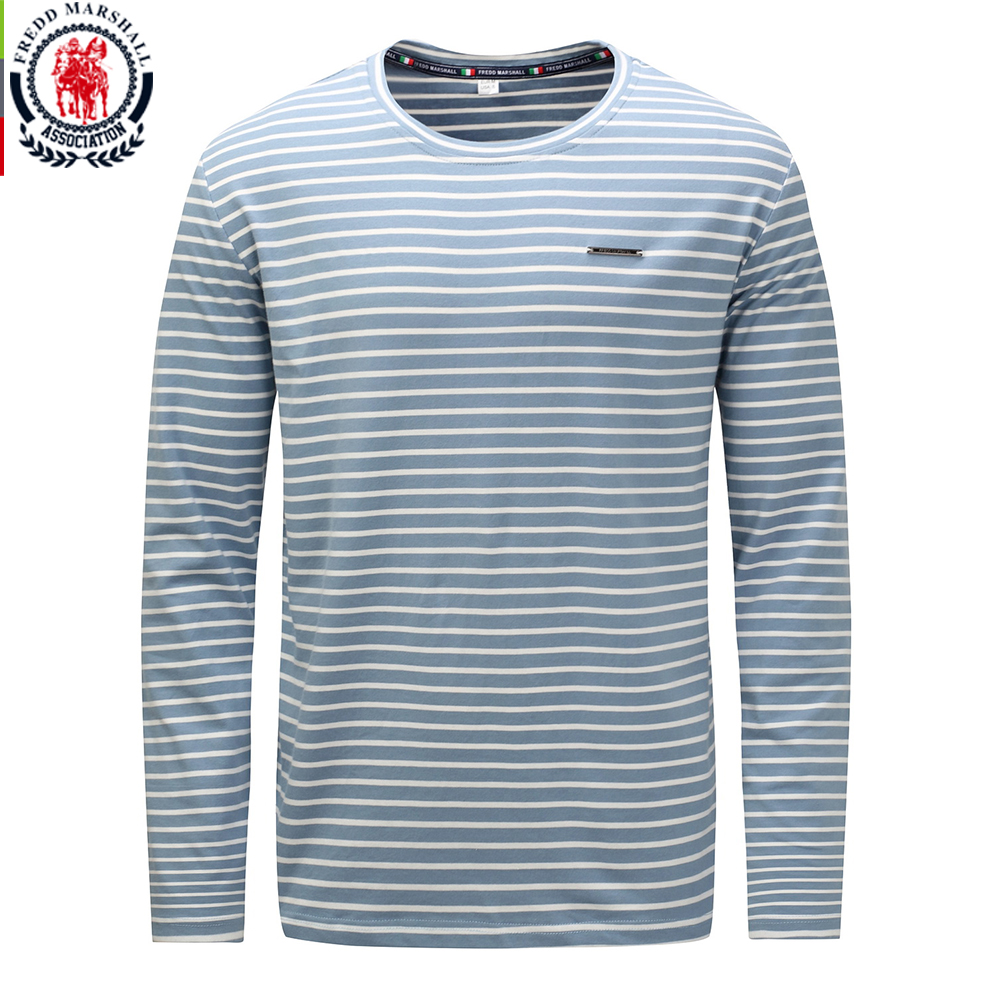 Fredd Marshall 2017 Autumn Winter Fashion Striped T shirt Long Sleeve Sequin Tee Shirt 100% Cotton High Quality Casual Tops 717-in T-Shirts from Men's Clothing on AliExpress - 11.11_Double 11_Singles' Day 1