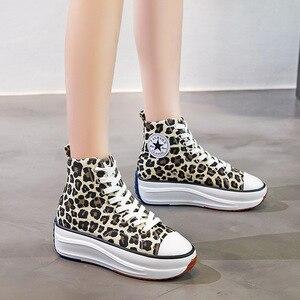 Image 5 - Kanvas ayakkabılar kadın moda eğitmenler kadınlar yüksek Top Sneaker bayan sonbahar kadın ayakkabı nefes kız beyaz siyah Sneakers