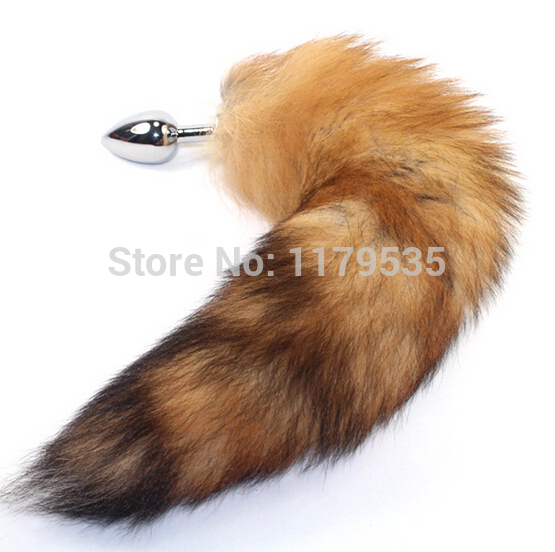 Attractive Stainless steel butt anal plugs Masturbation with long hair/foxtail/dog fox tail,Gay Sex Toys,Anal Sex Toy for women