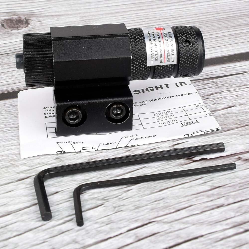 Powerful Tactical Mini Red Dot Laser Sight Scope Weaver Picatinny Mount Set for Gun Rifle Pistol Shot Airsoft Riflescope Hunting-5