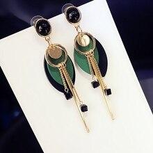 wholesale 2Pair Girl Jewelry Earring Ear clip Vintage  Long Tassel Shambhala Rhinestone Zircon ear pendant tassel earrings long