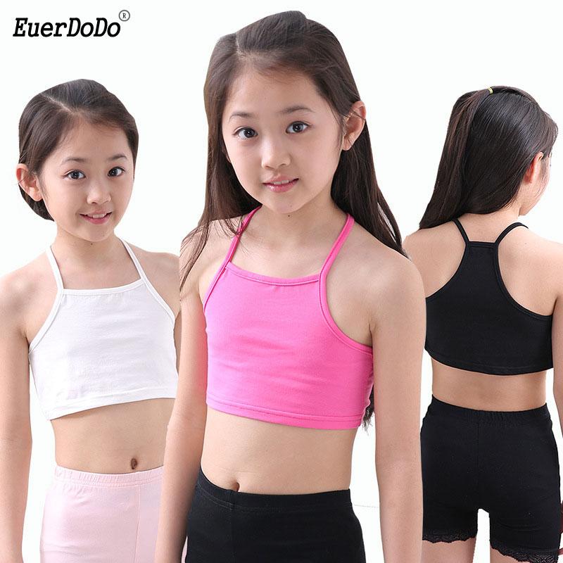Cotton Girls Tank Top 4-12 Years Underwear For Children Girl Undershirts Kids Singlets Baby Camisoles Bra Teenager