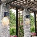 6 шт./лот  черные двойные светодиодные настенные лампы для внутреннего или наружного освещения  светодиодные светильники для крыльца/сада/а...