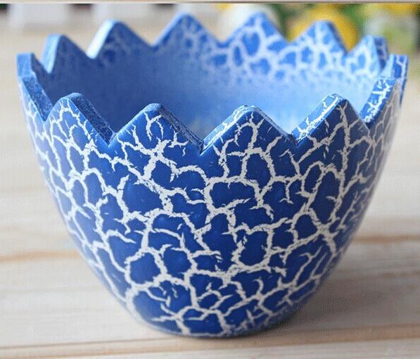 Fantastic Multicolor DIY Ceramic Egg Shell Shaped Garden Plant Pots Home  XI11