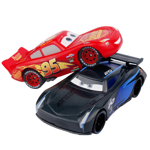 Disney Pixar Cars 3 Toys Cartoon Lightning McQueen Black Jackson Storm Diecast Plastic Birthday Gifts