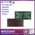 32 * 16 pixel levou módulo p10 DIP ao ar livre único vermelho 320 * 160 mm display LED módulo ao ar livre levou correndo texto levou sinal eletrônico LED