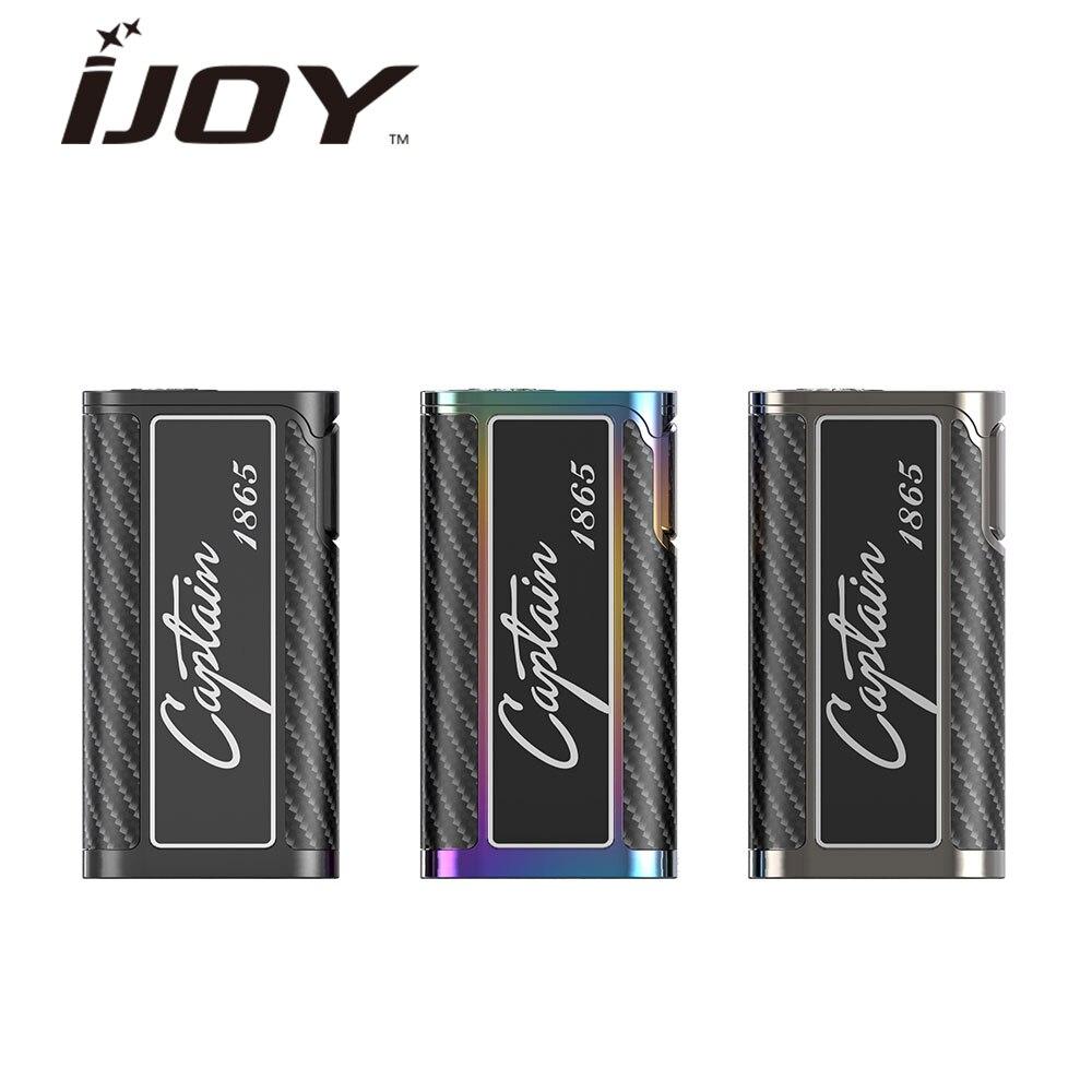 D'origine IJOY Capitaine 1865 TC Boîte MOD Max 162 w Sortie avec Grand Écran OLED Firmware Upgradable Mod N ° 18650 batterie Vs PD1865