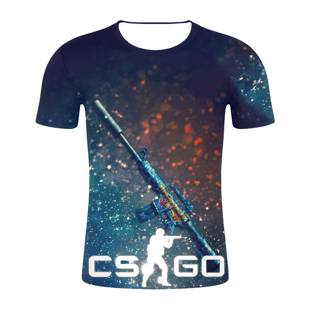 2019 CSGO 3D мужская футболка наивысшего качества брендовая одежда забавная Футболка Мужская s тройник счетчик Strike Global offension CS GO Gamer футболка