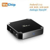 5 pcs Wechip X96 Mini Amlogic S905W Android Tv Box 1G + 8G/2G + 16G Quad Core Soutien 4 K Lecteur Multimédia 2.4G Wifi x96mini Set Top Box
