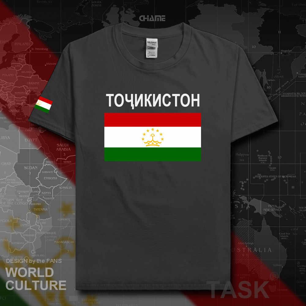 Camiseta de los hombres de Tajikistan jerséis a la moda equipo de la nación 100% Camiseta de algodón gimnasios Ropa Camisetas país sporting camiseta tayikk TJ 02