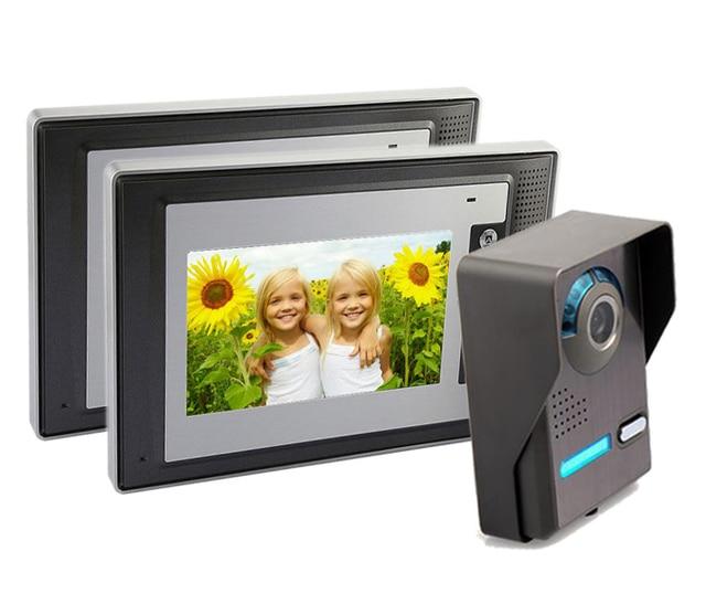 Freeship 7 Inch Video Door Phone Home Protection Doorbell Intercom Kit 2 Way Video Surveillance Security Cameras Doorphone