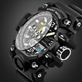 Мужские часы SANDA G Style  армейские цифровые Водонепроницаемые многофункциональные часы  спортивные светодиодные цифровые часы  новинка 2017