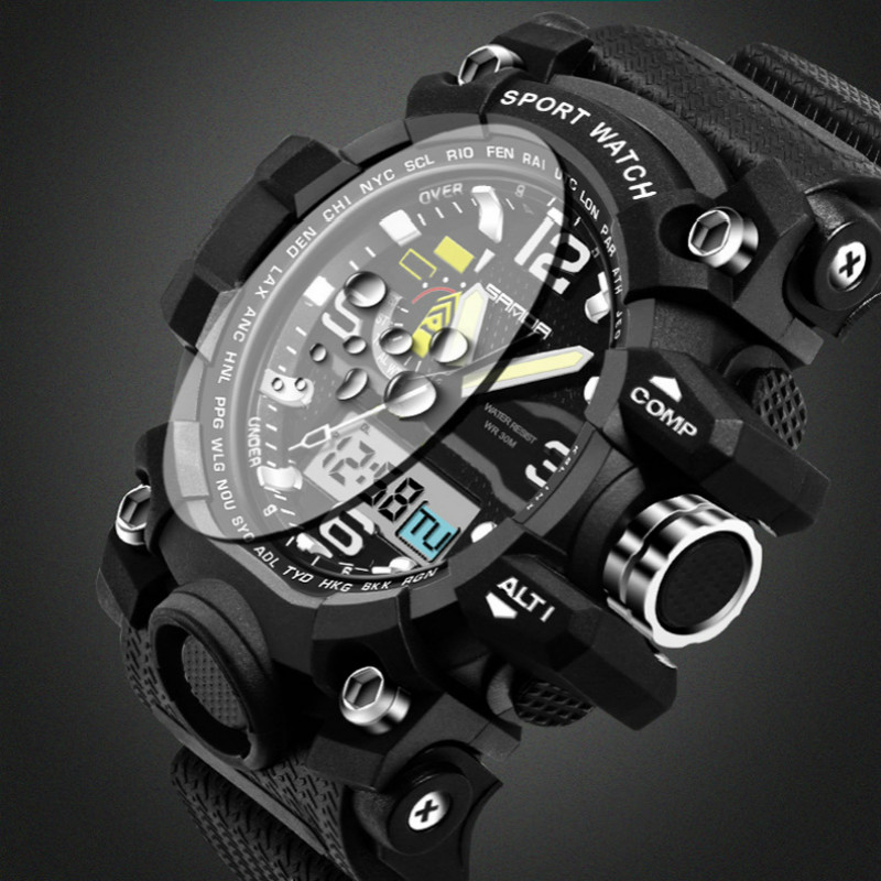2017 New Brand SANDA G Style Men Military Digital-watch Waterproof Sport Shock Multifunction Watches LED Digital Watch Clock Men