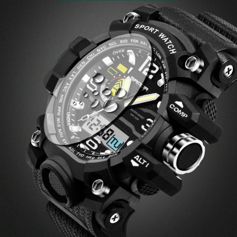 2017 Nouvelle Marque SANDA G Style Hommes Militaire Numérique-montre Étanche Sport Choc Multifonction Montres LED Numérique Montre Horloge hommes