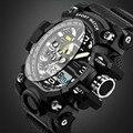 2017 nueva marca sanda g hombres del estilo militar digital de reloj impermeable del deporte de choque relojes multifunción led reloj digital reloj hombres