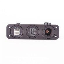 car USB power socket |DC voltage curent meter |cigarette power socket цена