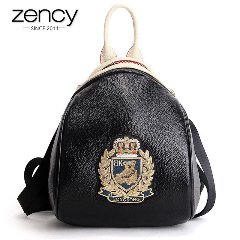 Fashion Women Backpack Famous Brand Bear Lovely Bags Genuine Leather Mochila Escolar Schoolbags For Teenagers Girl