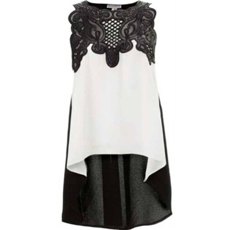 Women   Blouse   Casual Sleeveless Chiffon   Blouse     Shirt     shirt   irregular Hem Clothing Cool Tops