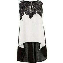Women Blouse Casual Sleeveless Chiffon Blouse Shirt