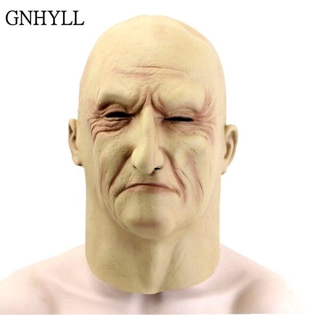 GNHYLL реалистичный латекс маска старика Мужская Маскировка Хэллоуин нарядное платье голова резиновая взрослые вечерние маскарадные маски косплей реквизит