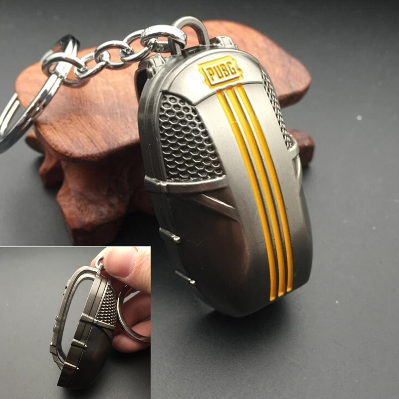 Game PUBG  Playerunknown's Battlegrounds parachute Level 3 armor backpack bag Keychain Cosplay Costume Props Pendant