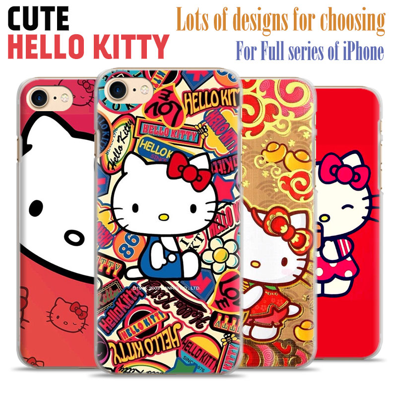 Hello Kitty Cute hard plastic scratch-resistant Matte Phone Case shell For Apple iPhone 7plus 7 6splus 6s 6plus 6 5 5s se 4S 4