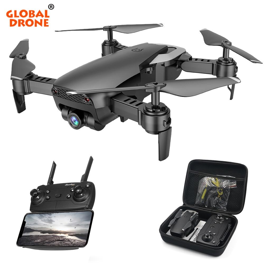 Global Drone Foldable Professional Remote Control Dron Headless Mode Helicopter Wifi FPV Drones With Camera HD VS X12 E58 E511 eachine e511 rc drone wifi fpv 1080p 720p hd camera headless mode 16mins foldable racing quadcopter vs mavic air drone e58