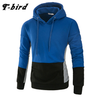 T Bird 2017 Men S Hoodie Stitching Sweatshirt Hip Hop Fashion Men S Hoodies Pullover Moletom