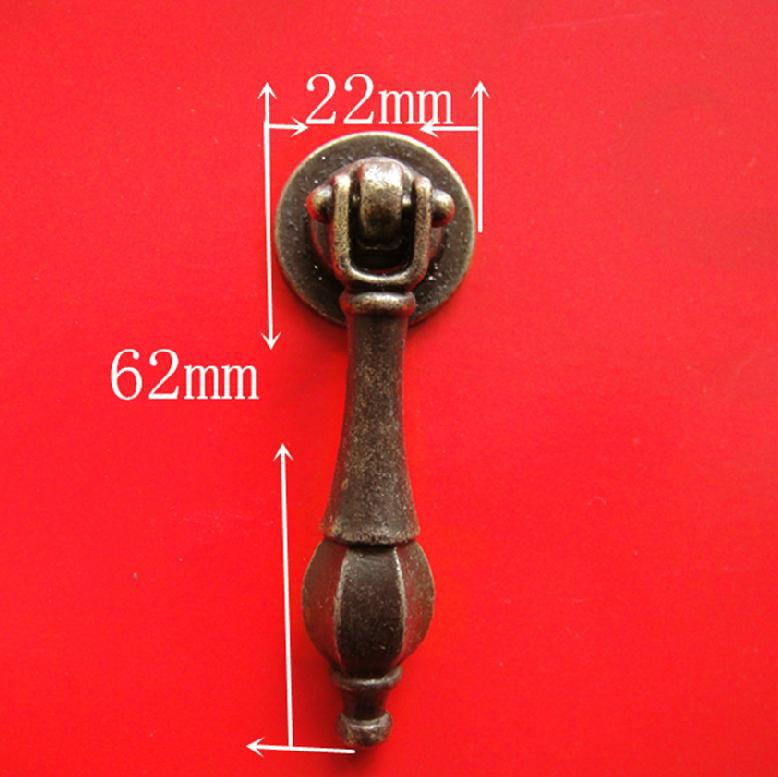 20pcs Drawer Handle Antique Metal Decoration for Ambry Wooden Box Cabinet Doors Diy entrance door handle solid wood pull handles pa 377 l300mm for entry front wooden doors