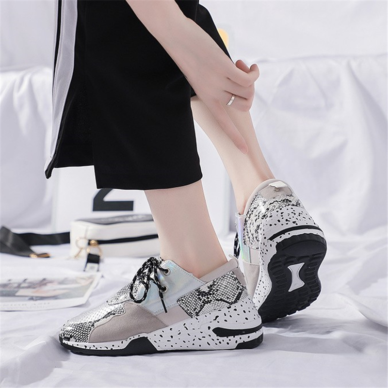 JIANBUDAN Autumn casual breathable women 39 s sneakers Platform wedge vulcanized shoes Outdoor fashion walking shoes Size 35 40 in Women 39 s Vulcanize Shoes from Shoes