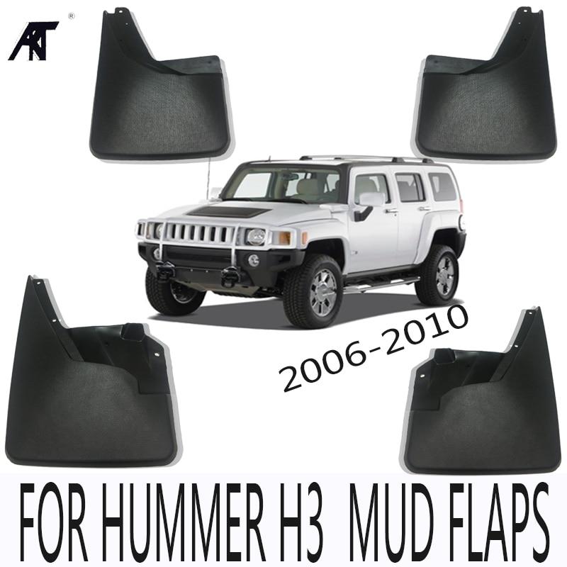 MUD FLAP FIT FOR HUMMER H3 H3T 2006-2010 MOLDED MUDFLAPS SPLASH GUARD MUDGUARDS FRONT REAR FENDER ACCESSORIES fit for jeep wrangler jk 2007 2015 mudflaps mud flap splash guard mudguards front rear fender accessories