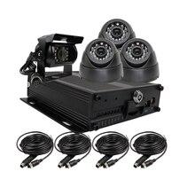 Новинка, Бесплатная доставка H.264 128 ГБ SD автомобиля Видеорегистраторы для автомобилей MDVR D1 видео Регистраторы в реальном времени Запись комплект + Incar заднего вида ИК автомобиля камера