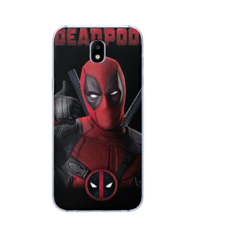 For Samsung galaxy J3 J5 J7 J8 J6 J4 Plus 2017 2018 Funda Coque Luxury Captain Marvel DC Joker Shazam Deadpool Etui Phone Case