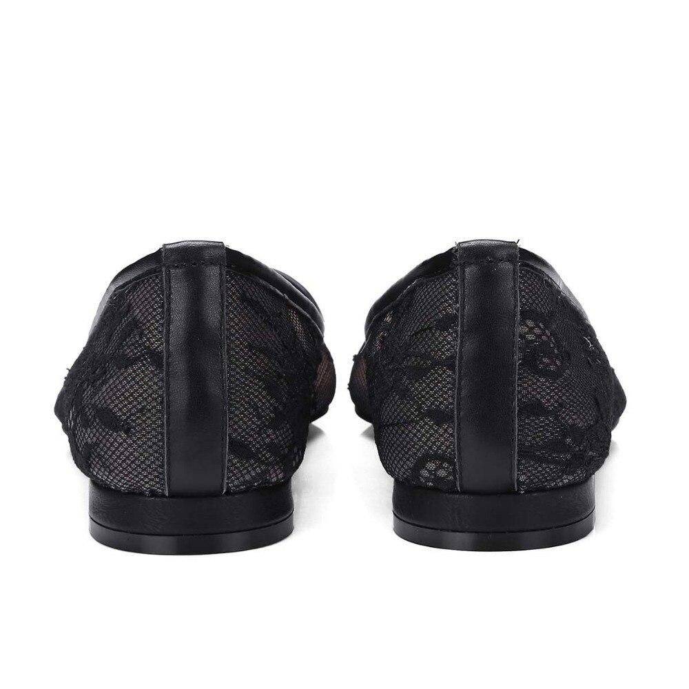 Dame Mode Appartements Fleur Conduite Noir Broderie Peu Pointu L10 Femmes Bureau Concise Mesh Chaussures Streetwear Air Bout D'été Profonde 2018 OfaZwqdpO