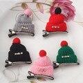 New Hair Accessories Handmade Cute Cartoon Wool Small Hat Hairpins Girls Winter Cap Barrette Hair Clip