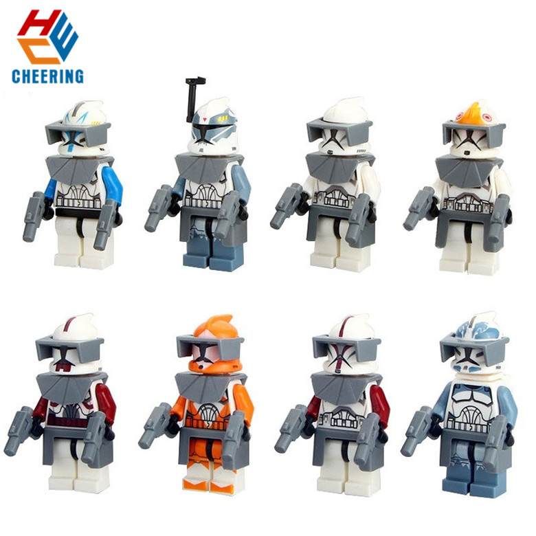 Single Sale Building Blocks Famous Movie 7 The Force Awakens Clone Trooper Commander Fox Rex Collection Toys For Kids PG8002