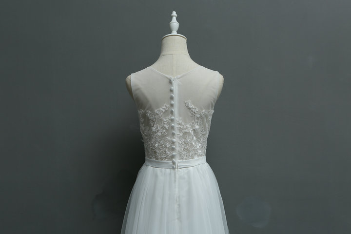 New Arrival Brief Fresh Exquisite Embroidery Lace Seaside Wedding Bridesmaid Dress/Wedding Photograph Dress 580 6
