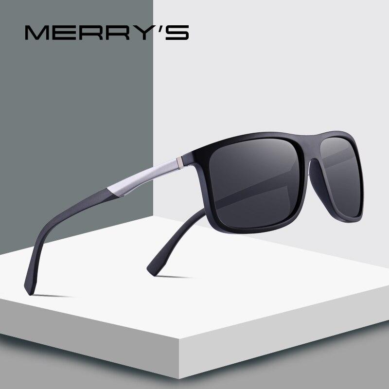 MERRY'S DESIGN Männer Polarisierte Platz Sonnenbrillen Outdoor Sport Männlichen Brillen Luftfahrt Aluminium Beine UV400 Schutz S'8132