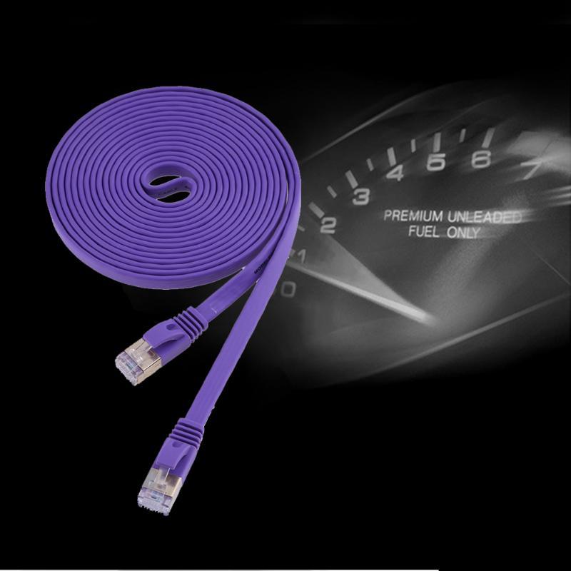 #3140 2 m Cat7 Câble Ethernet Haute Vitesse 10 Gbps Réseau Cuivre Pur Plat D'extension Câbles Cordon Fil Ligne Noyau De Cuivre Pur Ligne