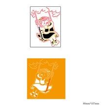 AZSG Single play Cutting Dies For DIY Scrapbooking Decorative Card making Craft Fun Decoration 8*10.7cm azsg cute girl cutting dies for diy scrapbooking decorative card making craft fun decoration 9 8 9 2cm