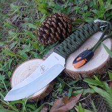 Peasant One-batch Forming Fixed Blade Knife Camping Hunting Knife Survival Knives Stainless Steel+ Nylon Tie Up Handle 1920#