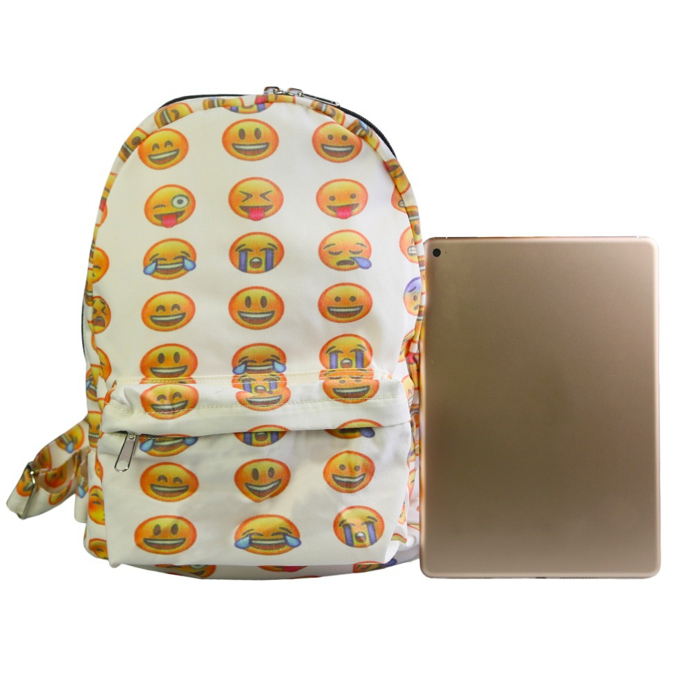 Aliexpress.com : Buy 36cm*26cm Emoji Printed Backpacks Boys Girls ...