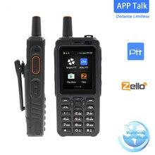 Uniwa f40 telefone rádio 4g lte poc telefone 7s walkie talkie android 6.0 zello gps rádio terminal móvel duplo sim fm transceptor