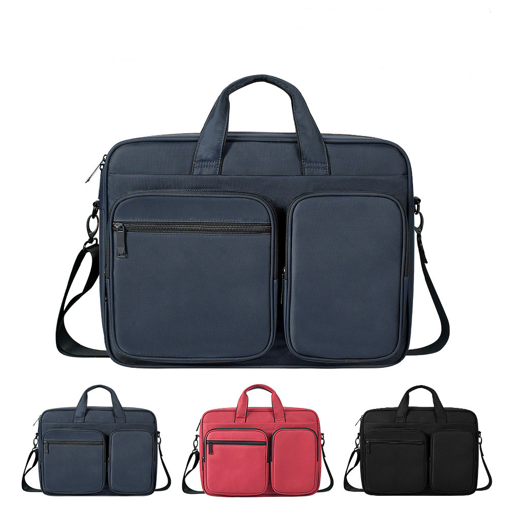 Large Laptop Red Shoulder Messenger Handbag Men Women Travel Briefcase Bussiness Notebook Bag For 13 14 15 16 Inch PC Computer