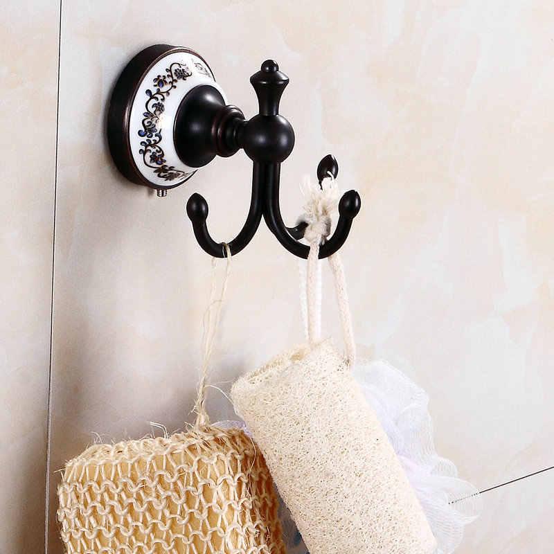 83BP serii olej czarny BronzeCopper akcesoria łazienkowe półka na ręczniki wieszak na ręczniki uchwyt na papier tkaniny hak mydelniczka uchwyt na kubek