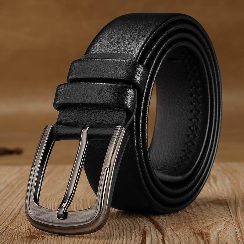 Fashion Retro Men Belt Leisure Business Wild High Grade Belt 120cm High Quality Luxury Square Pin Buckle Leather Belts For Men