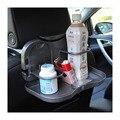 Coche portátil de viaje bebidas titulares + bandeja de comida del coche mesa de comedor plegable sostenedor de la bebida del coche Pallet volver portavasos agua coche asiento