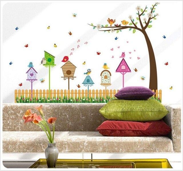 US $10.99 |Recinzione Uccelli Modelli Battiscopa Wall Stickers Camera Dei  Bambini Camera Da Letto Soggiorno Parete TV Sfondo Adesivi Murali Vestels  in ...